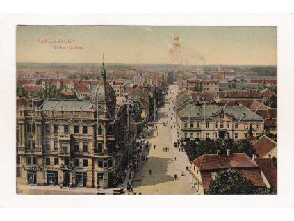 Pardubice ulice barevná světlotisk lakovaná RU 4a