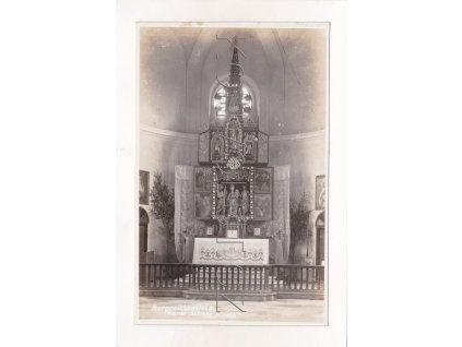 Kašperské Hory kostel Zasvěcení Marie Sněžné víra oltář 1a