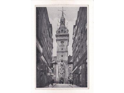 Brno stará radnice protektorát ČB foto hlubotisk BuM 35 Freig. 9386 1a