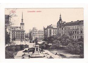 Brno Lažanského náměstí ČB světlotisk socha H. S. B. 1610 K 1907 1a