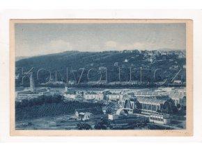 Brno výstaviště celkový pohled ČB hlubotisk modrá tónovaná EPO Brno 3086 3 1a