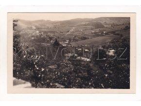 Vimperk cekový pohled na město z nadzámčí ČB foto nákl. B. Kouba 5a