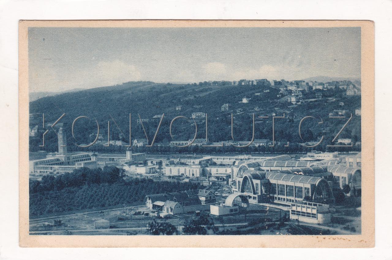 Obrázek  BRNO - okres Brno-město, výstaviště, výstava, ČB hlubotisk, modrá, tónovaná, EPO, MF