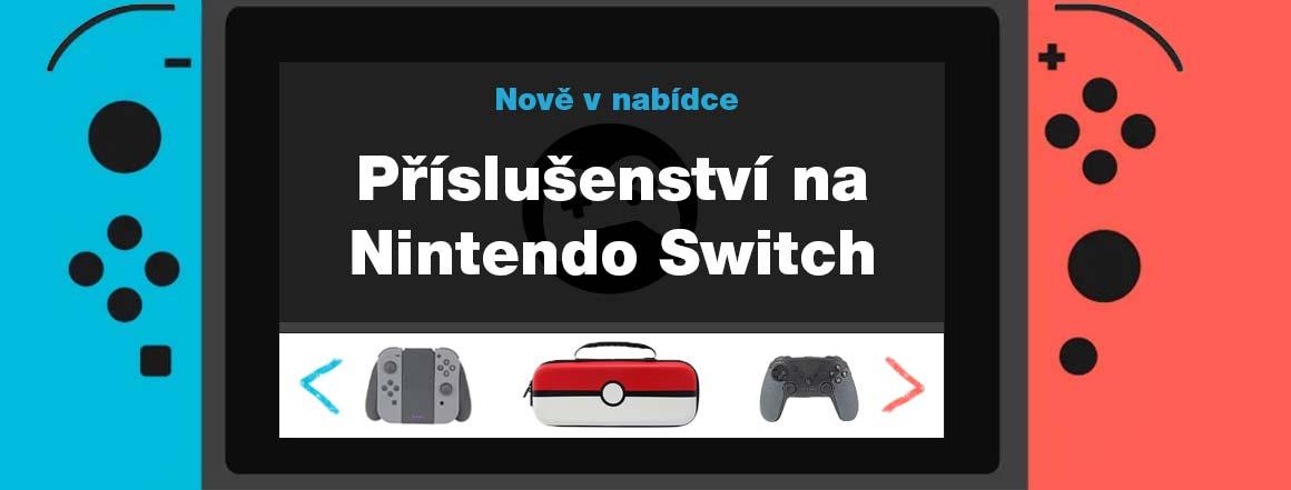 Přislušenství na Nintendo Switch