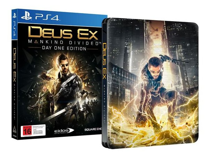 PS4 Deus Ex: Mankind Divided (Day One Edition) Steelbook