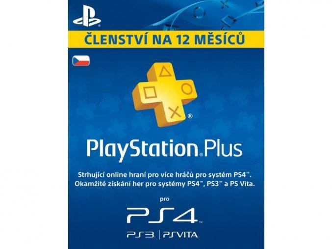 PS4 PlayStation Plus 12 měsíční členství