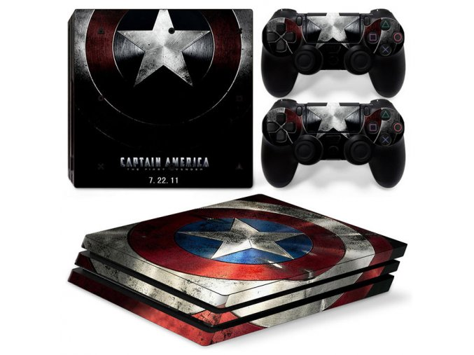 PS4 Pro Polep Skin Captain America