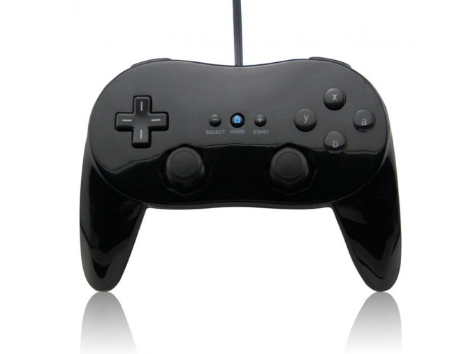 Nintendo Wii Ovladač Classic černý