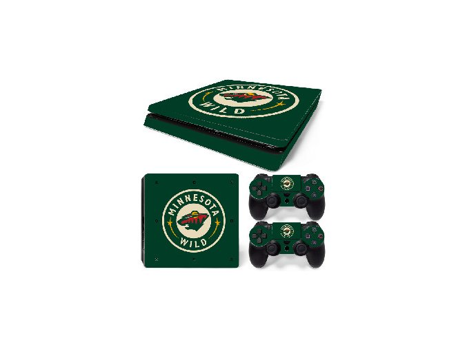 PS4 Slim Polep Skin Minnesota Wild