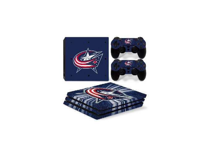 PS4 Pro Polep Skin NHL - Columbus Blue Jackets
