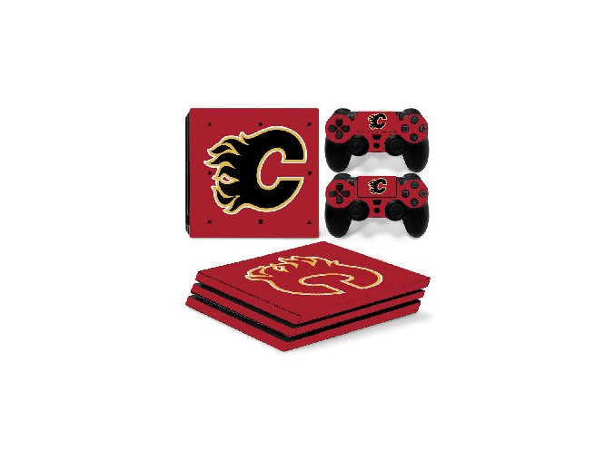 PS4 Pro Polep Skin NHL - Calgary Flames