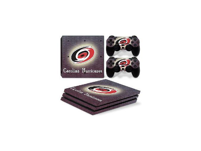 PS4 Pro Polep Skin NHL - Carolina Hurricanes
