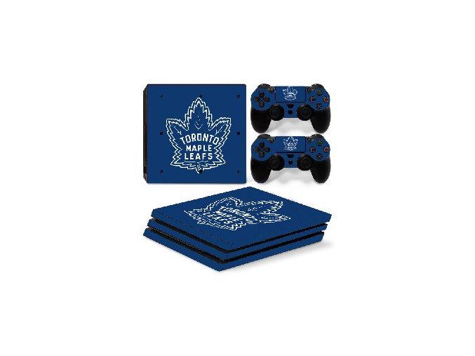 PS4 Pro Polep Skin NHL - Toronto Maple Leafs
