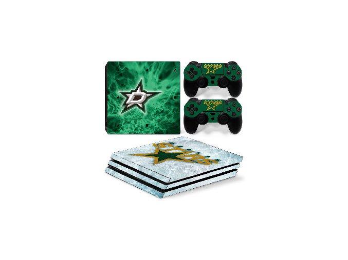 PS4 Pro Polep Skin NHL - Dallas Stars
