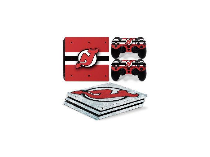 PS4 Pro Polep Skin NHL - New Jersey Devils