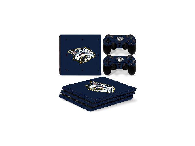 PS4 Pro Polep Skin NHL - Nashville Predators