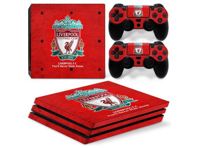 PS4 Pro Polep Skin Liverpool FC
