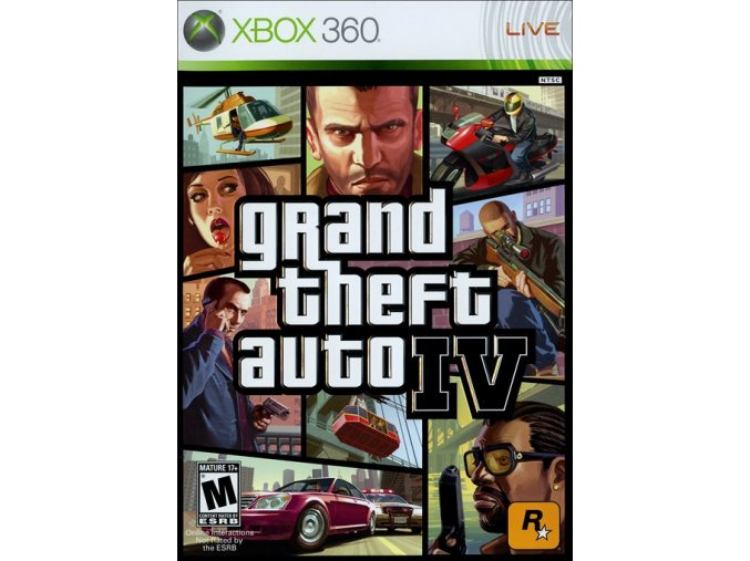Xbox 360 Grand Theft Auto IV - GTA 4