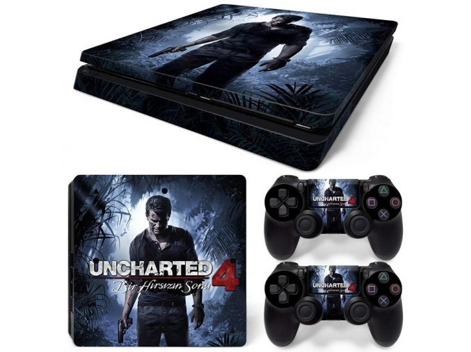 PS4 Slim Polep Skin Uncharted 4