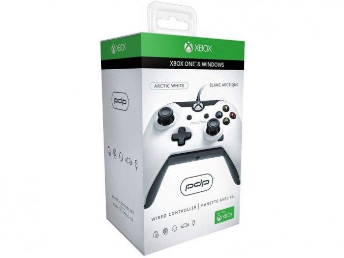 Xbox One drátový ovladač PDP Artic White