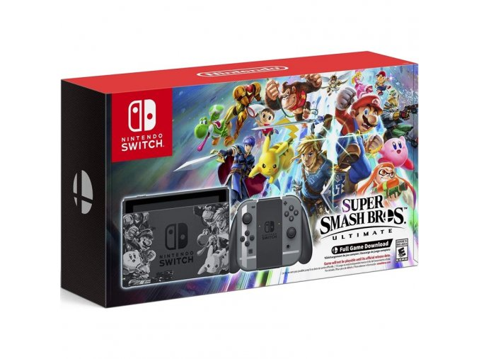 Nintendo Switch Super Smash Bros Ultimate + 256 GB paměťová karta