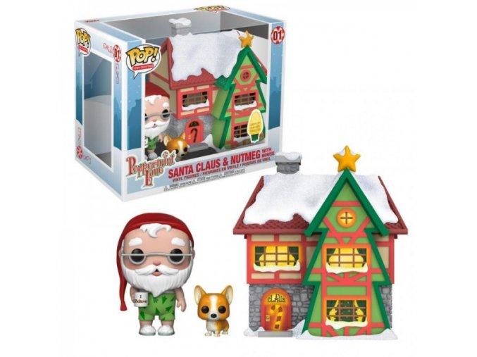 Funko POP Town Santa Claus & Nutmeg with House - Peppermint Lane
