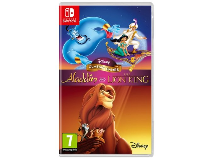 Nintendo Switch Disney Classics Games Aladdin and The Lion King