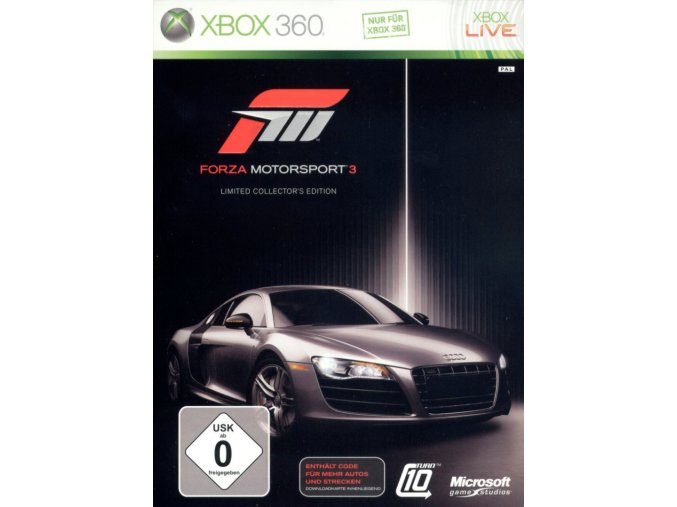 Xbox 360 Forza Motorsport 3 Limited Collector's Edition CZ
