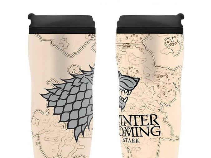 Cestovní hrnek Game of Thrones - Winter is Coming