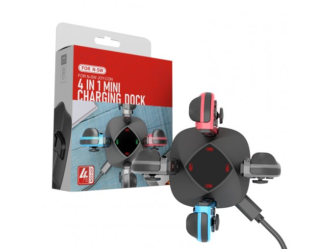 Nintendo Switch nabíjecí dokovací stanice pro Joy-Con 4v1