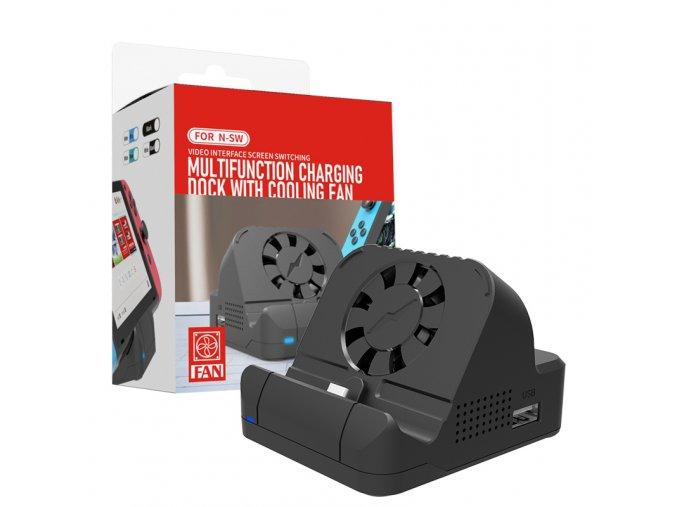 Multifunkční nabíjecí dokovací stanice s ventilátorem pro Nintendo Switch