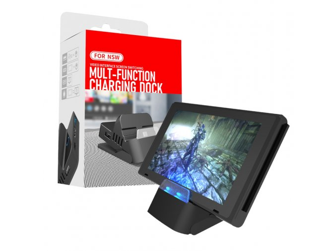 Multifunkční nabíjecí dokovací stanice pro Nintendo Switch