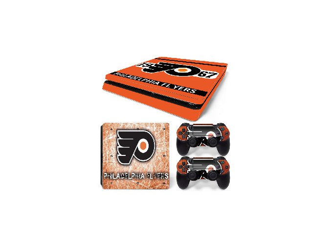 PS4 Slim Polep Skin Philadelphia Flyers