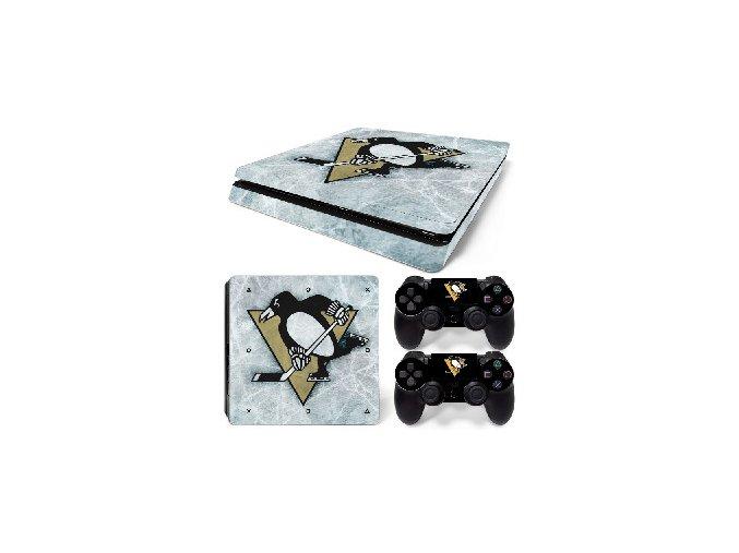 PS4 Slim Polep Skin Pittsburgh Penguins
