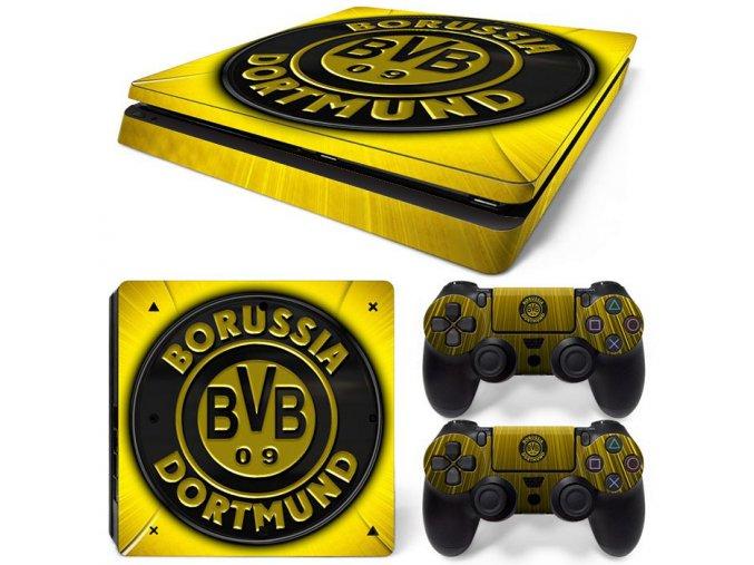 PS4 Slim Polep Skin Borussia Dortmund
