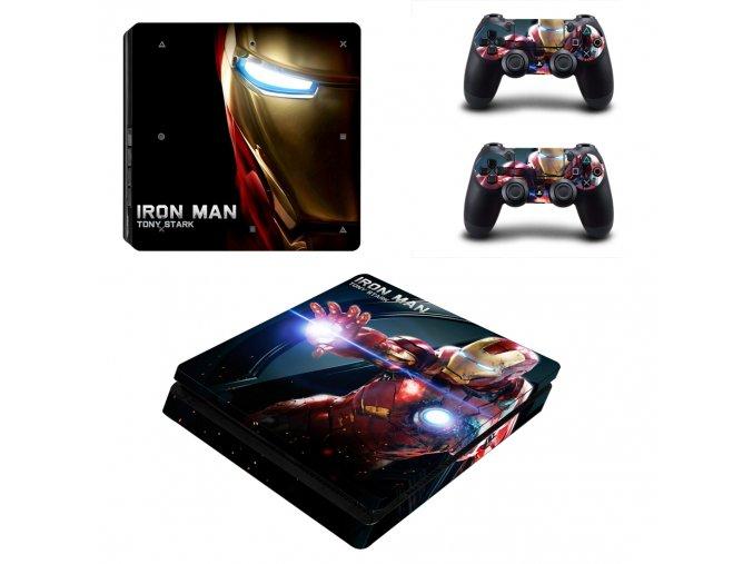 PS4 Slim Polep Skin Iron Man