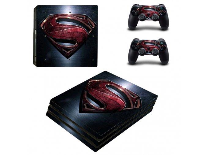 PS4 Pro Polep Skin Superman