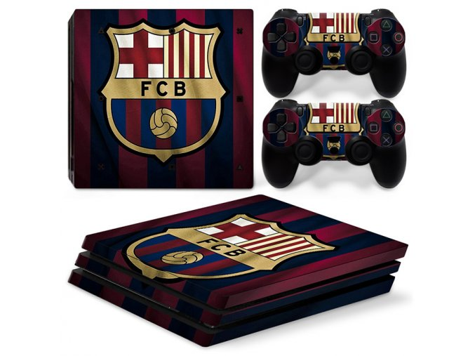 PS4 Pro Polep Skin FC Barcelona
