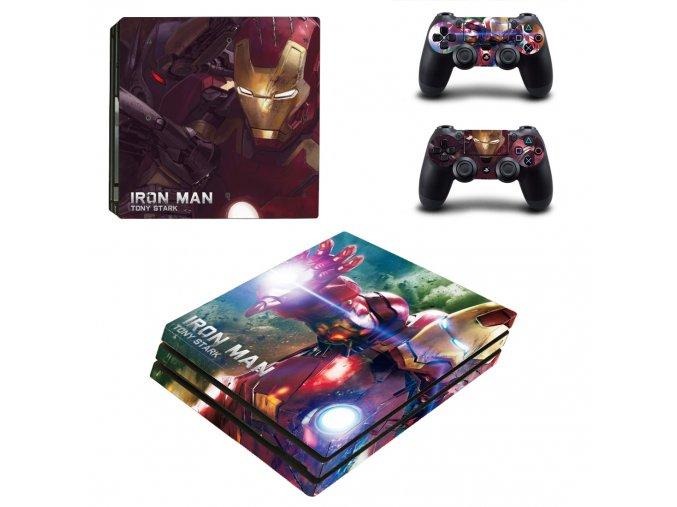 PS4 Pro Polep Skin Iron Man