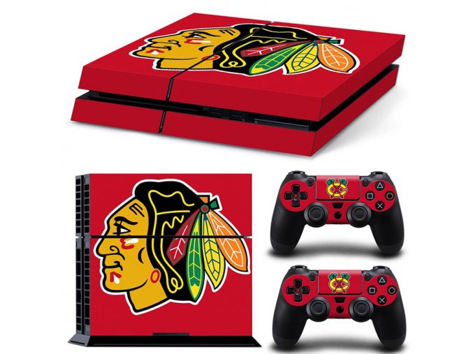 PS4 Polep Skin Chicago Blackhawks