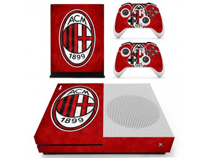 Xbox One S Polep Skin AC Milan