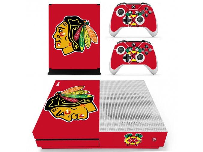 Xbox One S Polep Skin Chicago Blackhawks