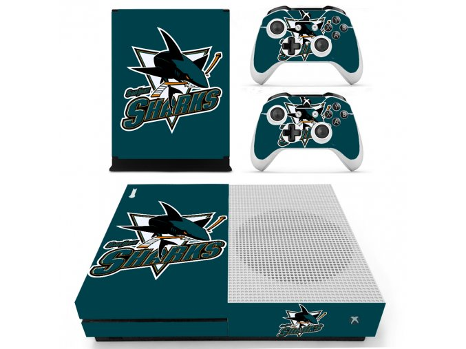 Xbox One S Polep Skin San Jose Sharks