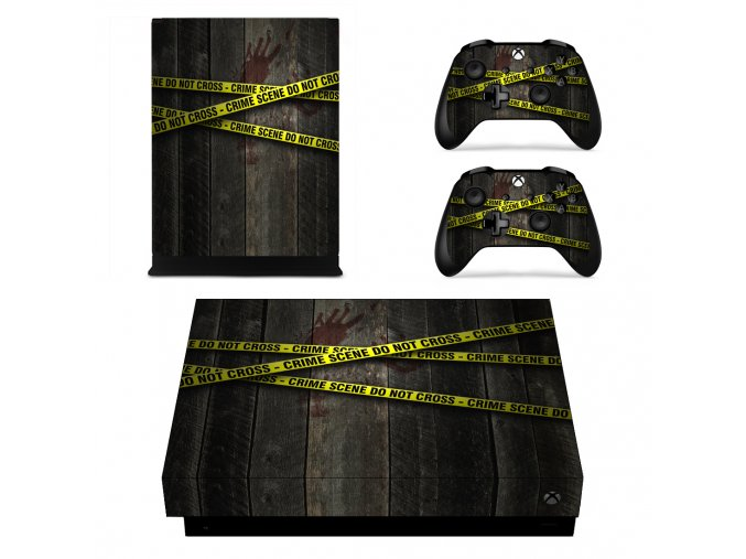 Xbox One X Polep Skin Crime Scene