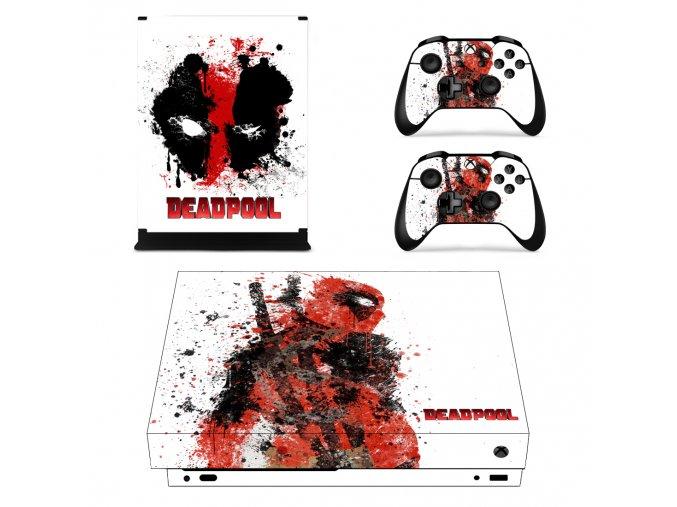 Xbox One X Polep Skin Deadpool