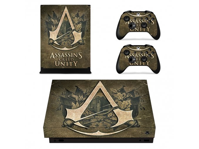 Xbox One X Polep Skin Assassins Creed Unity