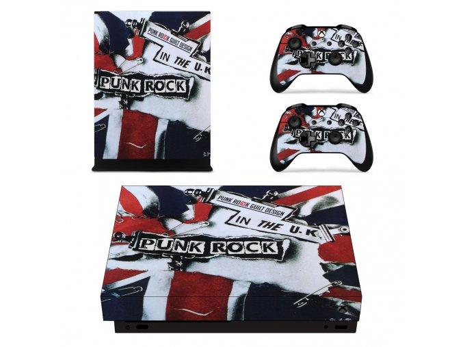 Xbox One X Polep Skin Punk Rock