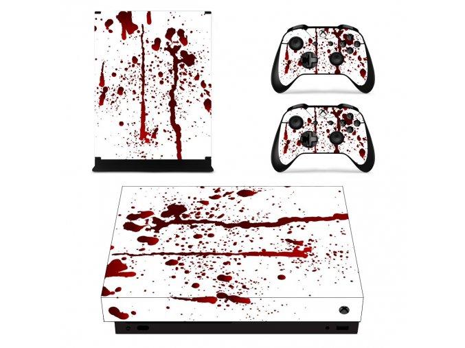 Xbox One X Polep Skin Blood