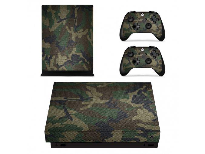 Xbox One X Polep Skin Army