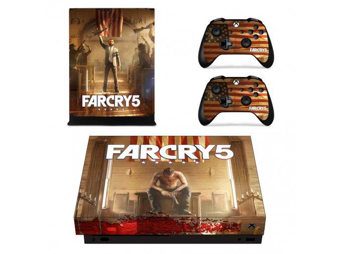 Xbox One X Polep Skin Far Cry 5